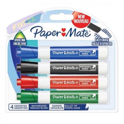 1272 2 paper mate na tabule whiteboard kulaty 4ks barevne
