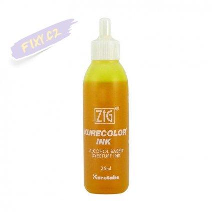 13074 1 kuretake zig kurecolor refill ink 25ml 102 lemon yellow