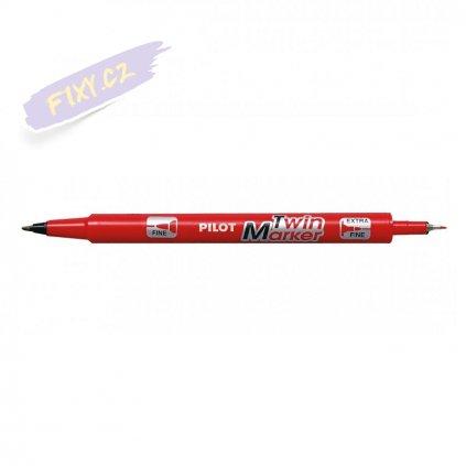 14736 1 pilot twin marker oboustranny cerveny