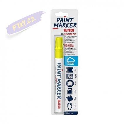 14958 5 alteco paint marker zluty