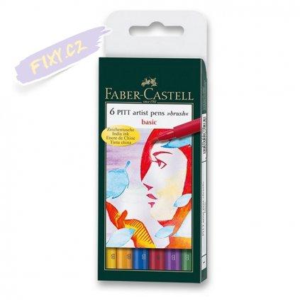 16527 3 faber castell pitt artist pen set 6ks zakladni