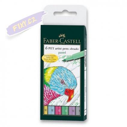 16530 3 faber castell pitt artist pen set 6ks pastelove