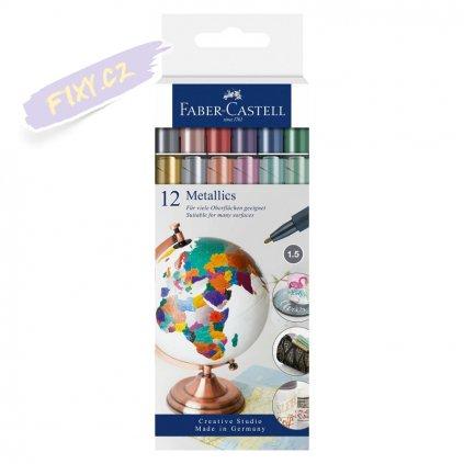 17118 3 faber castell pitt artist pen metallics 12ks