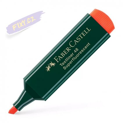 17220 1 faber castell zvyraznovac textliner 1548 oranzovy