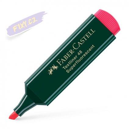 17223 1 faber castell zvyraznovac textliner 1548 cerveny