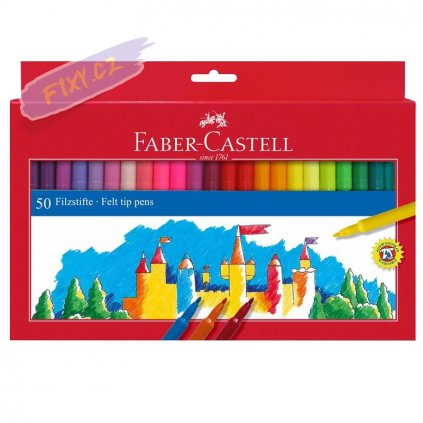 17379 1 faber castell skolni fixy set 50ks