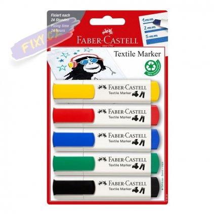 17475 3 faber castell na textil set 5ks zakladni