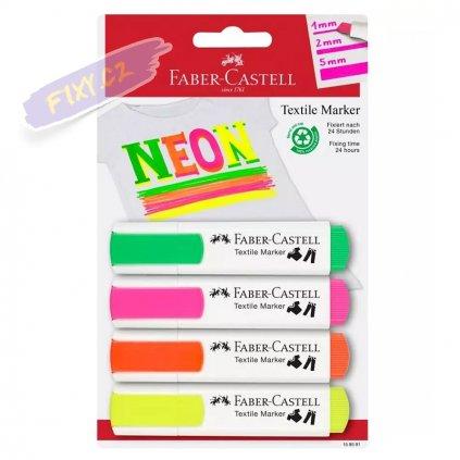 17481 2 faber castell na textil set 4ks neonove