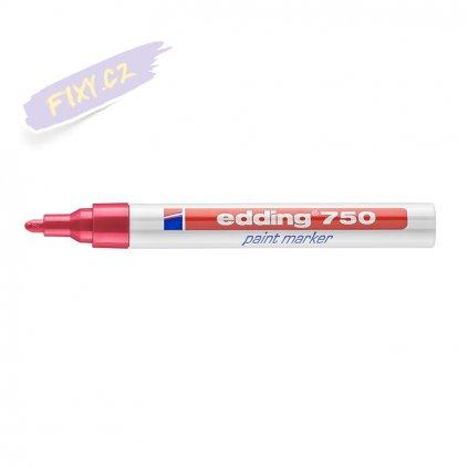 17487 5 edding 750 lakovy popisovac cerveny