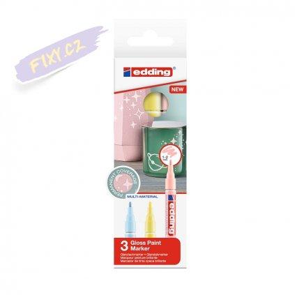 17571 5 edding 751 lakovy popisovac 3ks pastelovych barev