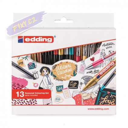 17691 3 sada edding seasonal colouring 13ks