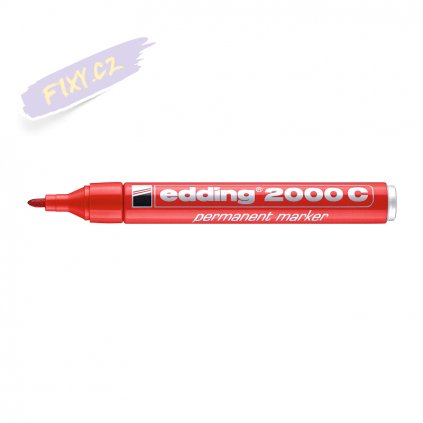 17715 2 edding 2000 c permanentni popisovac cerveny