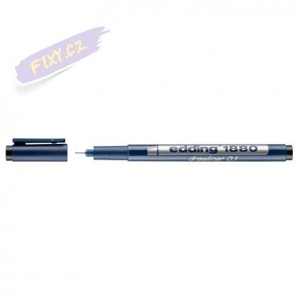 18015 2 liner edding 1880 drawliner cerny 0 1mm