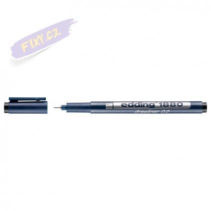 18018 2 liner edding 1880 drawliner cerny 0 2mm