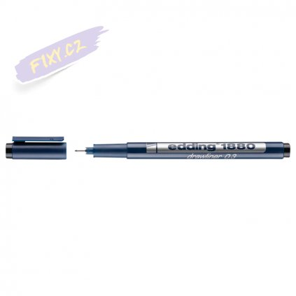 18021 2 liner edding 1880 drawliner cerny 0 3mm