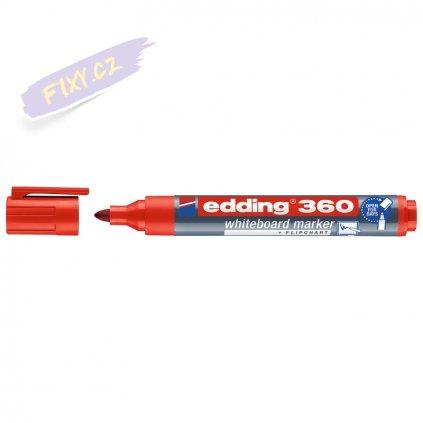 18147 3 edding 360 na bile tabule cerveny
