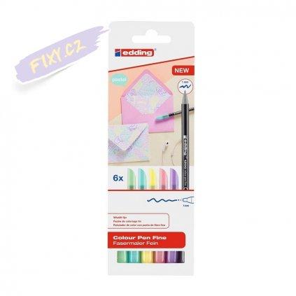 18591 4 edding 1200 na papir 6ks pastelovych barev