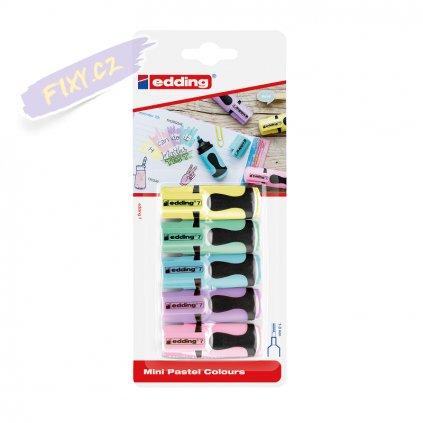 18753 2 zvyraznovac edding mini 5ks pastelovych barev