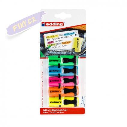 18756 2 zvyraznovac edding mini 5ks neonovych barev