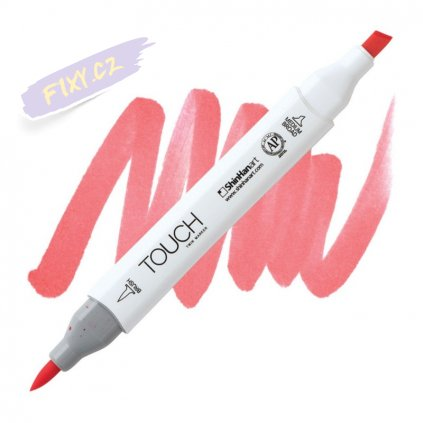 1962 2 r16 coral pink touch twin brush marker