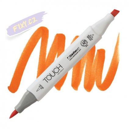 1977 2 yr23 orange touch twin brush marker
