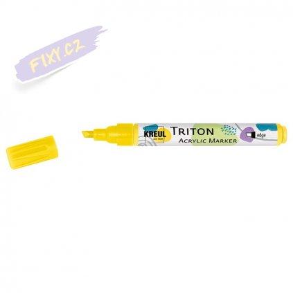 19986 4 akrylovy popisovac triton solo goya m svetle zluty