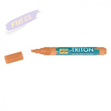 19989 4 akrylovy popisovac triton solo goya m tmave oranzovy
