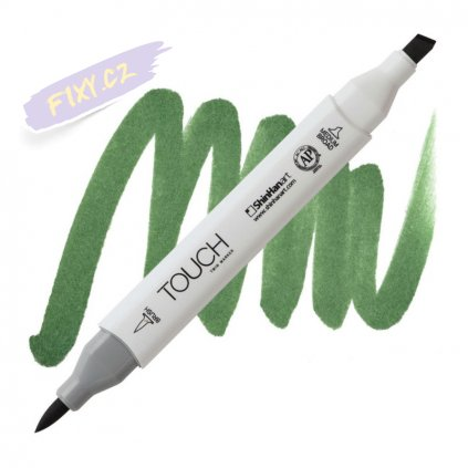 2028 2 g43 deep olive green touch twin brush marker