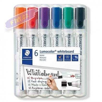 20436 1 staedtler lumocolor na bile tabule 6ks sikmy hrot