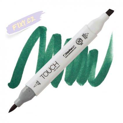 2055 2 bg52 deep green touch twin brush marker