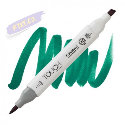 2058 2 bg53 turquoise green touch twin brush marker