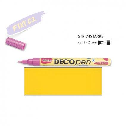 20667 3 dekoracni popisovace decopen 1 2mm zluty