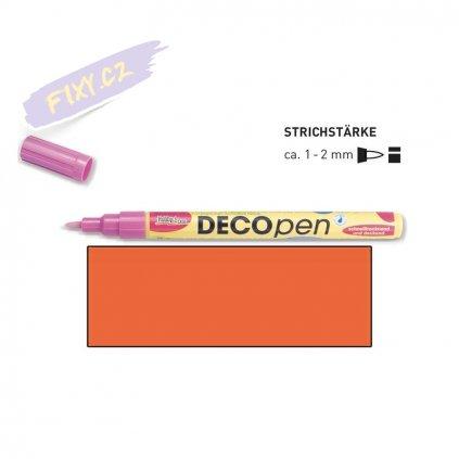 20670 3 dekoracni popisovace decopen 1 2mm oranzovy