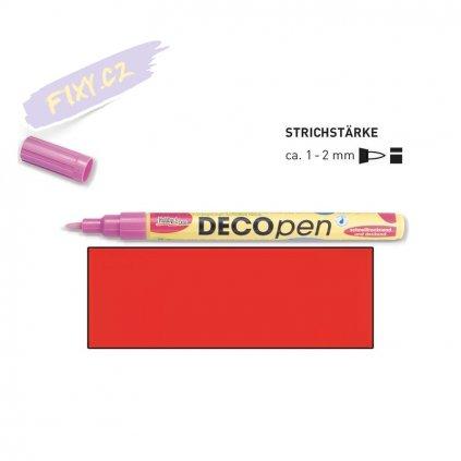 20673 3 dekoracni popisovace decopen 1 2mm cerveny