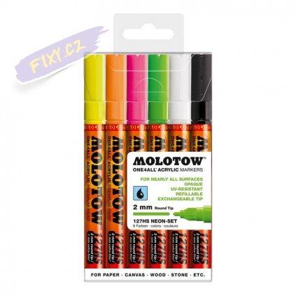 21303 2 molotow akrylovy one4all 2mm 6ks neonove