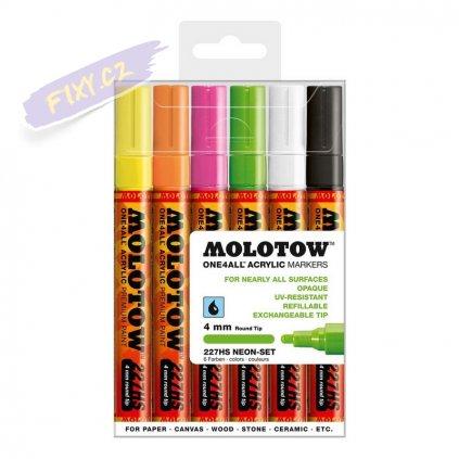 21606 2 molotow akrylovy one4all 4mm 6ks neonove