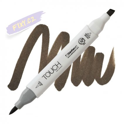 2178 2 br98 chestnut brown touch twin brush marker