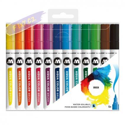 22083 4 molotow akvarelovy aqua color brush 12ks zakladni a