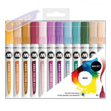 22086 4 molotow akvarelovy aqua color brush 12ks zakladni b