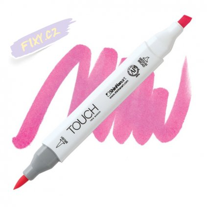2238 2 f126 fluorescent pink touch twin brush marker