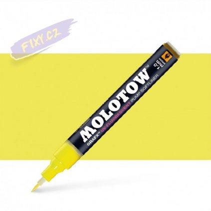 22440 3 molotow lihovy grafx zluty uv fluorescent neon brush