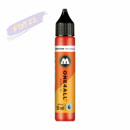 22476 1 molotow refill ink pro akrylovy one4all 30ml traffic red