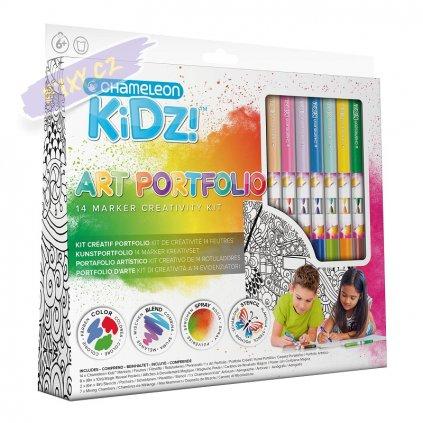 23535 6 chameleon detsky set kidz art portfolio 14ks