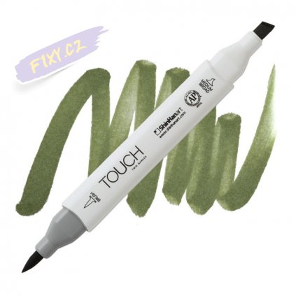 2361 2 gy231 seaweed green touch twin brush marker