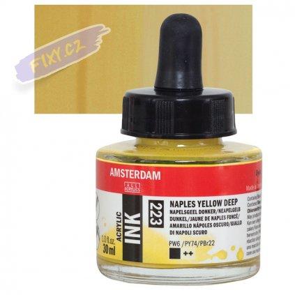24087 4 amsterdam acrylic ink 30ml 223 naples yellow deep