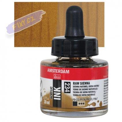 24093 4 amsterdam acrylic ink 30ml 234 raw sienna