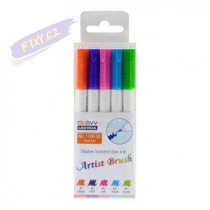 24450 1 marvy artist brush sada 5ks vivid