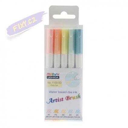 24456 1 marvy artist brush sada 5ks pale