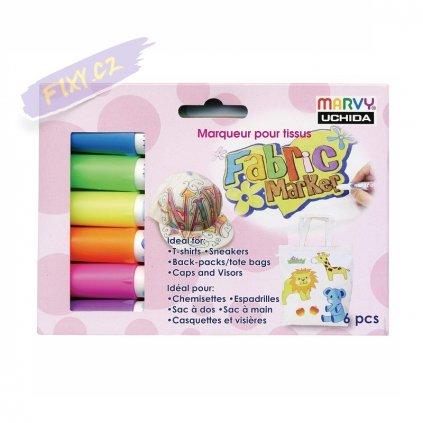 24726 1 marvy na textil m560 sada 6ks fluorescencni