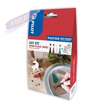 25473 1 pilot pintor akrylova sada diy kit xmas jmenovky na stul